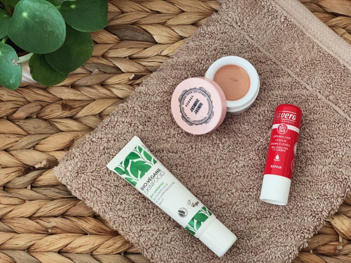 Lippenpflege Augenpflege vegan