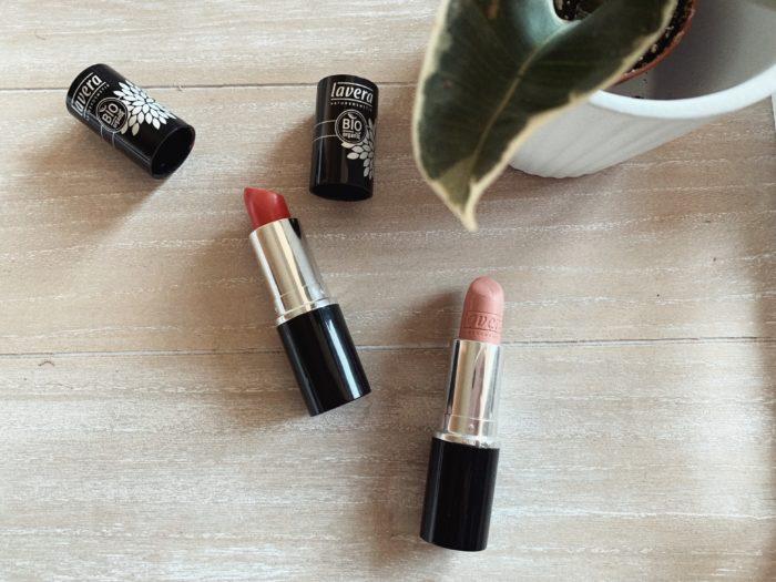 Naturkosmetik Favoriten Lavera Lippenstifte
