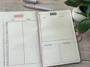 Einfaches und minimalistisches Bullet Journal Setup