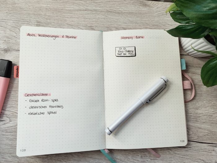 Bullet Journal Setup